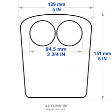 Chin rest paper for current TOPCON equipment (STYLE 2), 4031040820