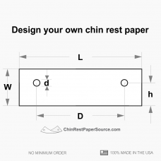 Custom size chin rest paper, 20 packs of 500